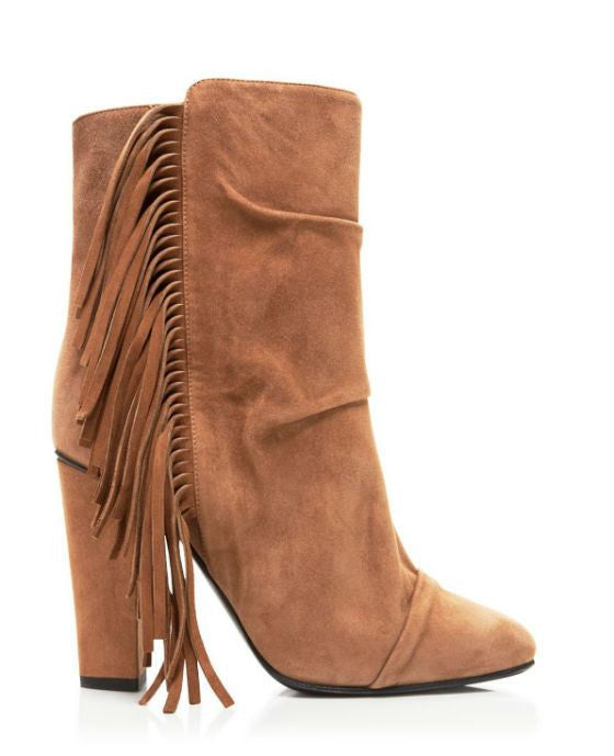 Giuseppe Zanotti Alabama Round Toe Suede Tan Boot - Fashionbarn shop - 2