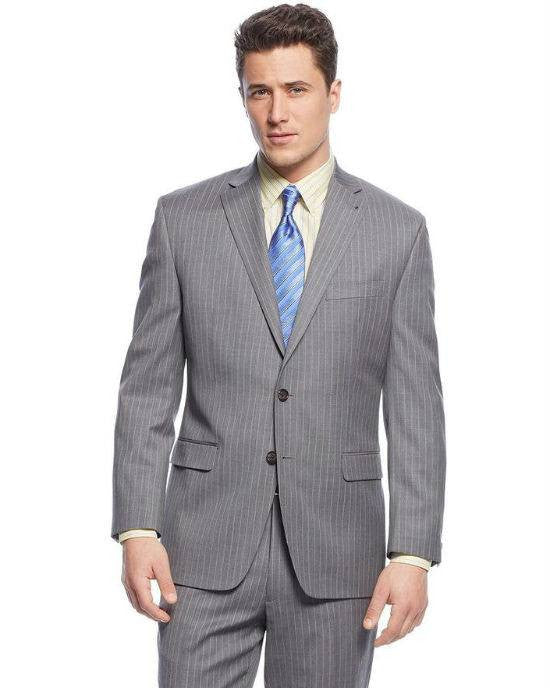 Lauren by Ralph Lauren Grey Stripe 2 Piece Suit-LAUREN RALPH LAUREN-Fashionbarn shop