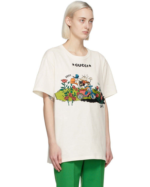 Gucci Off-White Disney Edition Garden Roses Donald Duck T-Shirt