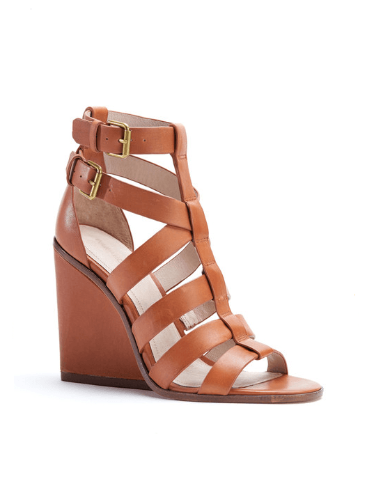 Pour La Victoire Brown Cecile Strappy Wedge Sandals - Fashionbarn shop - 1