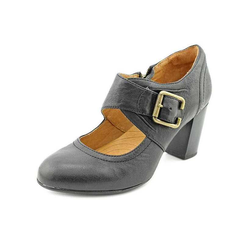 Indigo By Clarks Town Club Womens Leather Mary Janes Heels-CLARKS OF ENGLAND-Fashionbarn shop