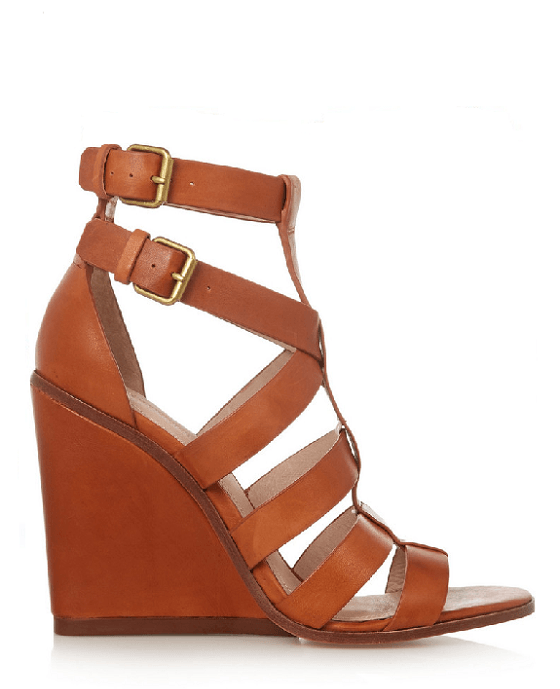 Pour La Victoire Brown Cecile Strappy Wedge Sandals - Fashionbarn shop - 2