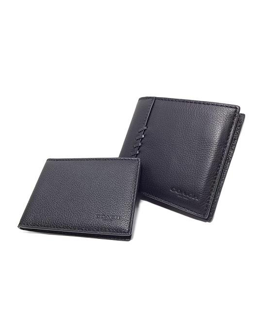 47258dc25a932 COACH MEN S F21371 3-IN-1 WALLET WITH BASEBALL STITCH