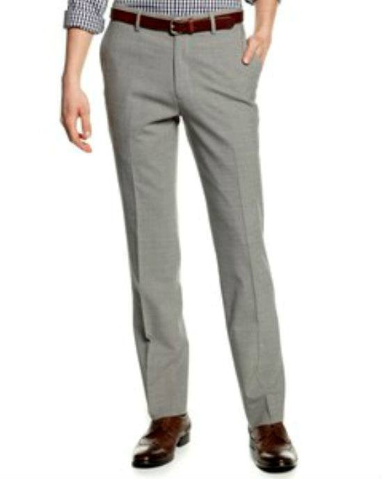 Bar III Dress Pants, Light Grey Check Slim Fit-BAR III-Fashionbarn shop