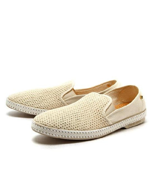 "Rivieras Canvas ""Beige Classic 20 Degrees"" Slip-On Loafers"