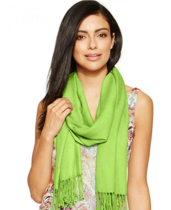INC International Concepts Satin Pashmina Wrap Chartreuse - Fashionbarn shop - 1