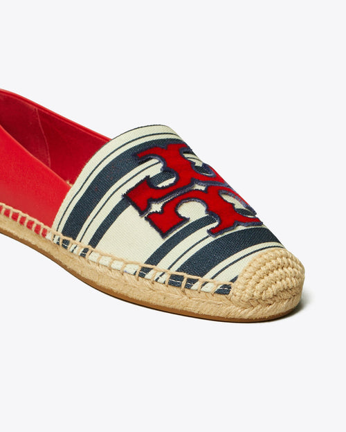 Tory Burch Ines Striped Fil Coupe Espadrilles