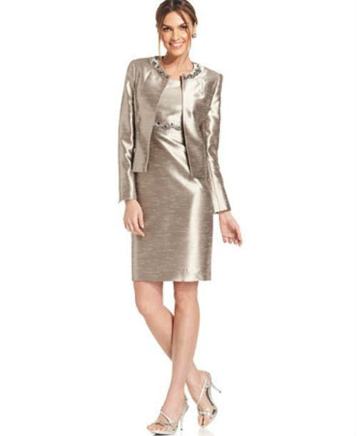 Kasper Embellished Metallic Melange Jacket-KASPER-Fashionbarn shop