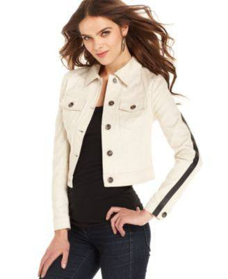 KENSIE JACKET, STRIPED FITTED BIRCH MULTI L-KENSIE-Fashionbarn shop