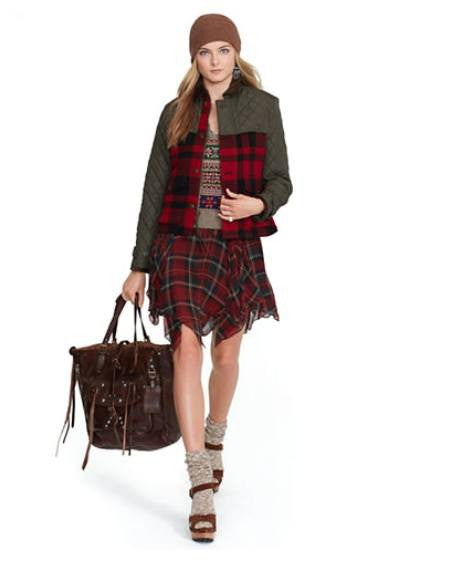 Polo Ralph Lauren Plaid Mixed-Media Jacket-LAUREN RALPH LAUREN-Fashionbarn shop