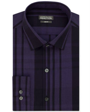 Kenneth Cole Reaction Slim-Fit Check Dress Shirt-KENNETH COLE REACTION-Fashionbarn shop