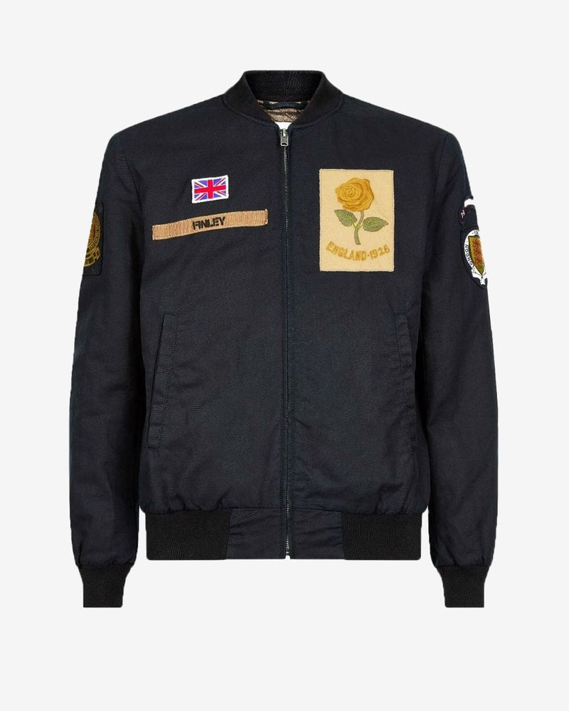 Kent & Curwen Men's Rose Patch Bomber Jacket