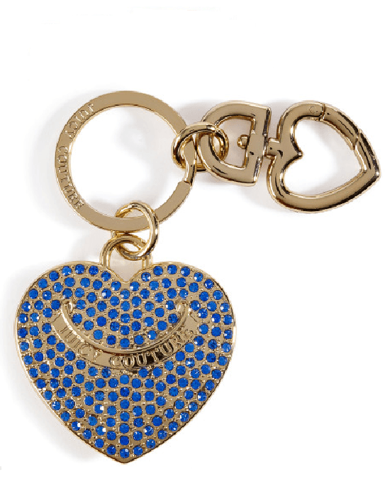 Juicy Couture Pave Heart Key Chain-JUICY COUTURE-Fashionbarn shop