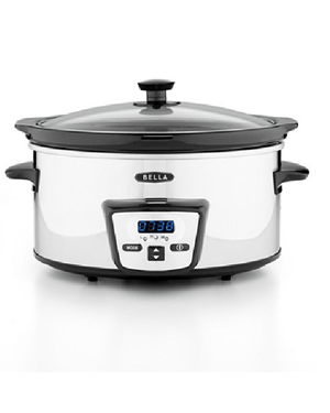 Bella 13973 5 Qt. Programmable Polished Stainless Steel Slow Cooker-BELLA-Fashionbarn shop