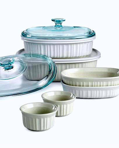 Corningware French White 10 Piece Bakeware Set-CORNINGWARE-Fashionbarn shop