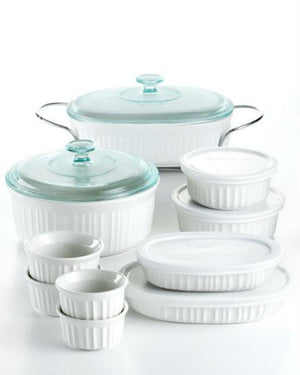 Corningware French White 17 Piece Bakeware Set-CORNINGWARE-Fashionbarn shop