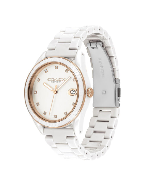 Coach Preston Sport Watch, 36mm White