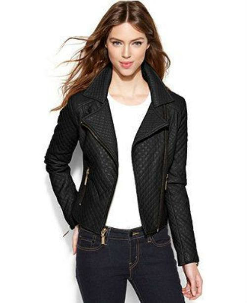 Bar III Asymmetrical Quilted Moto Jacket-BAR III-Fashionbarn shop