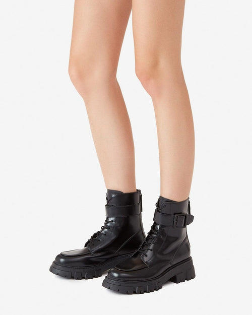 Ash Lewis Black Leather Biker Boots