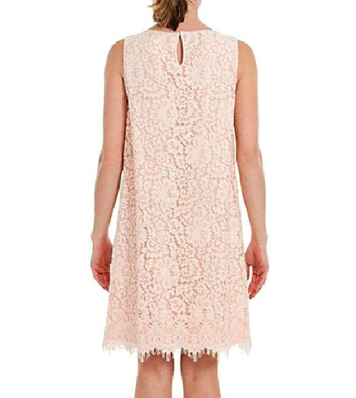 Max Studio Dresses Women Rose Sleeveless Floral Lace Dress