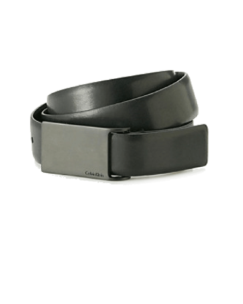 Calvin Klein Men's Black Smooth Leather Belt-CALVIN KLEIN-Fashionbarn shop