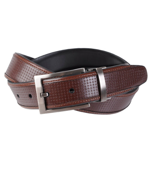 Geoffrey Beene Men's Woven Inlay Reversible Belt-GEOFFREY BEENE-Fashionbarn shop