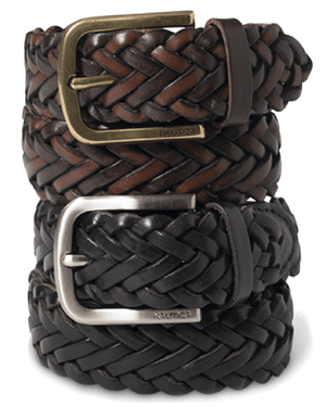 Nautica Braided Leather Belt-NAUTICA-Fashionbarn shop