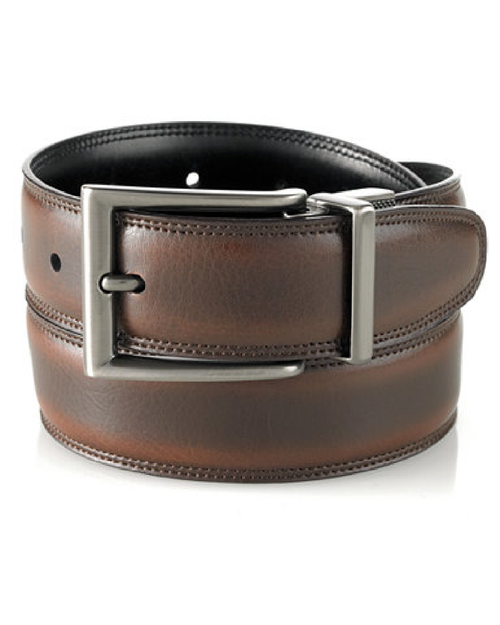 Perry Ellis Leather Reversible Belt-PERRY ELLIS-Fashionbarn shop