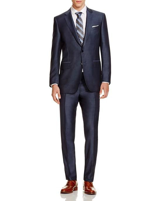 Canali Birdseye Firenze Regular Fit Suit-CANALI-Fashionbarn shop