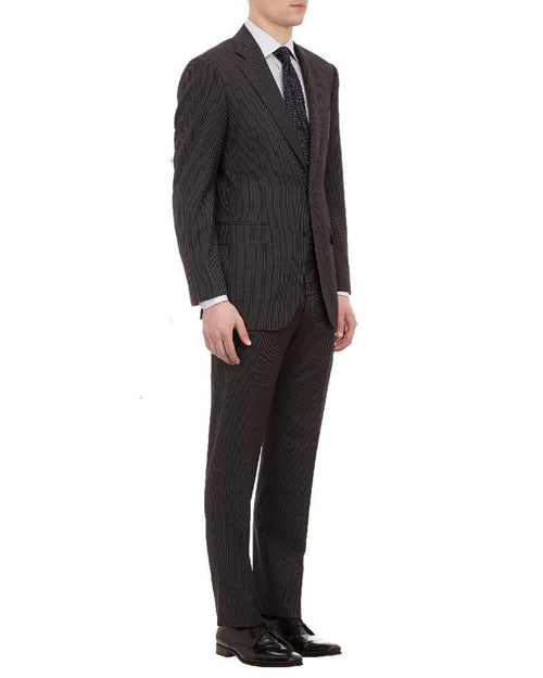 "CANALI Narrow-Stripe ""C Contemporary"" Two-Button Suit-CANALI-Fashionbarn shop"