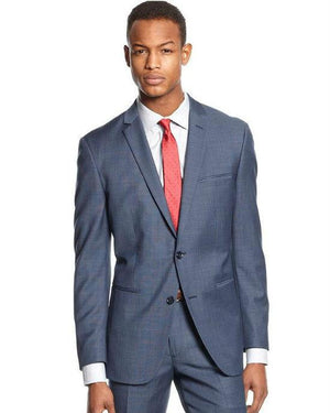 Bar III Suit Mid Blue Neat Slim Fit-BAR III-Fashionbarn shop
