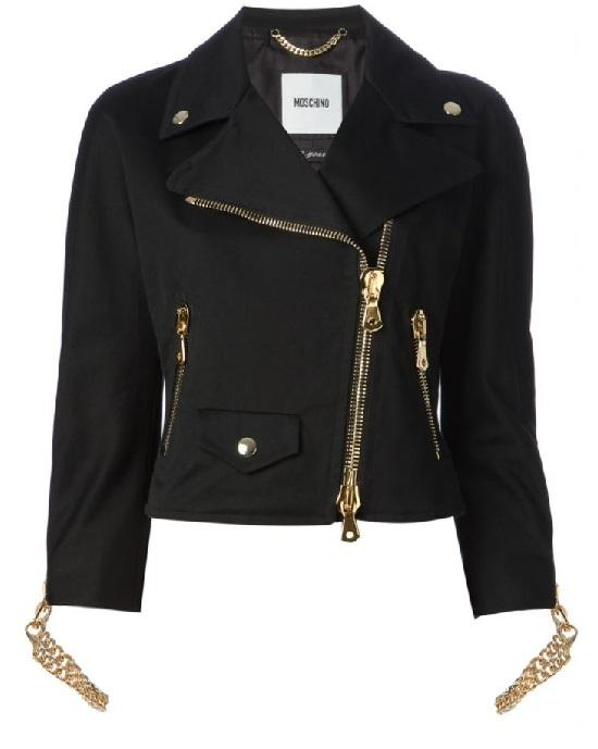 Moschino Chain Cuff Biker Jacket