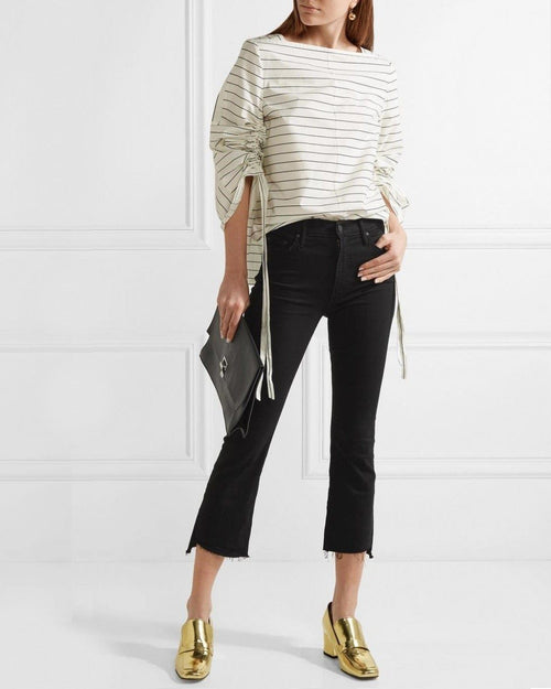 Mother The Insider Crop Jeans, Black