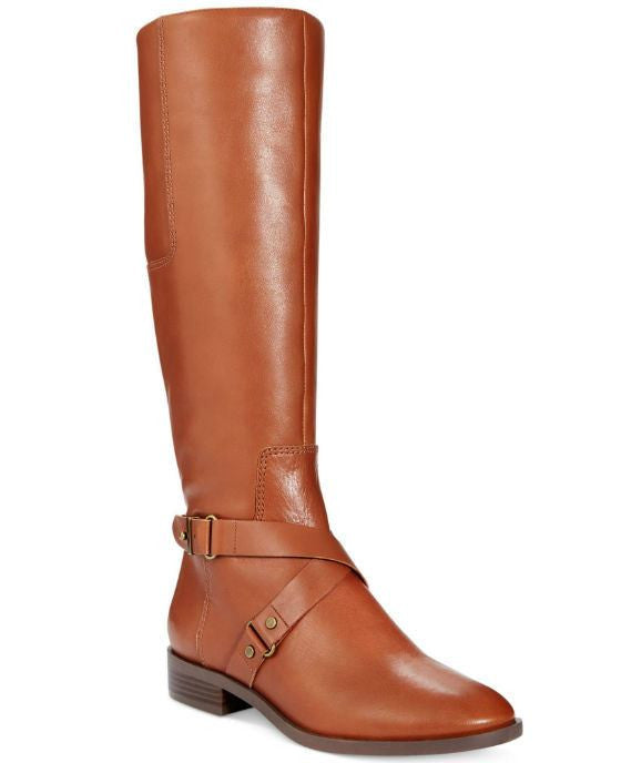 Nine West Blogger Round Toe Leather Knee High Boot - Fashionbarn shop - 1