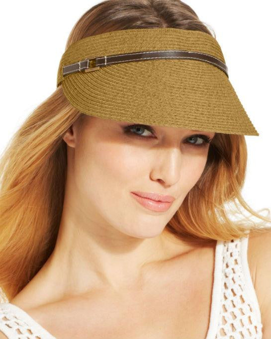 Nine West Packable Visor Neutral-NINE WEST-Fashionbarn shop