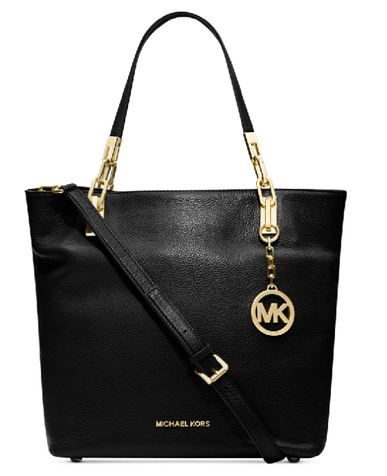 MICHAEL Michael Kors Brooke Medium Shoulder Tote in Black - Fashionbarn shop - 1