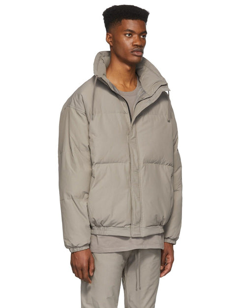 Essentials Fear Of God Grey Puffer Jacket