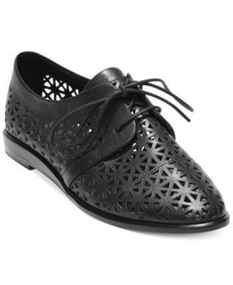 Dv By Dolce Vita Black Moe Laser Cut Oxfords-DV BY DOLCE VITA-Fashionbarn shop