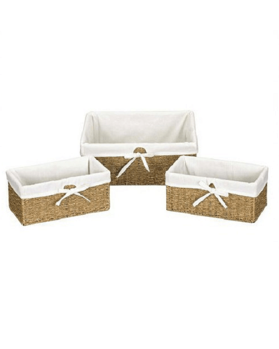 Household Essentials® Wicker Decorative Basket Set of 3-HOUSEHOLD-Fashionbarn shop