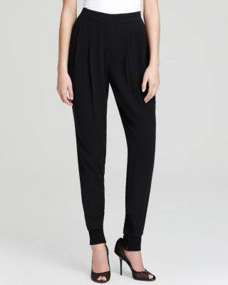 EILEEN FISHER BLACK ANKLE PANT WITH CUFF-EILEEN FISHER-Fashionbarn shop