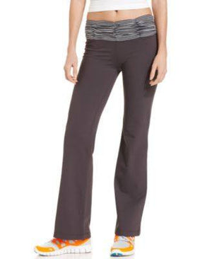 IDEOLOGY PANTS, BOOTCUT-LEG STRIPED RUC DEEP CHARCOAL M-IDEOLOGY-Fashionbarn shop