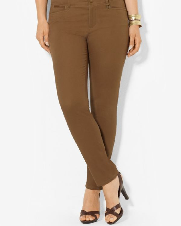 Lauren Ralph Lauren Plus Size Slim Ankle Pants-LAUREN RALPH LAUREN-Fashionbarn shop