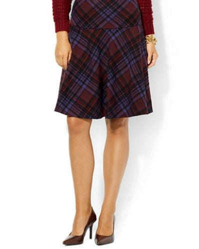 LAUREN RALPH LAUREN Petite Plaid Fit-and-Flare Skirt-LAUREN RALPH LAUREN-Fashionbarn shop