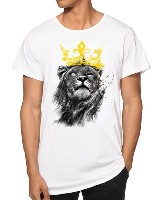 Men's Summer Crown Lion 3D Print T-shirt