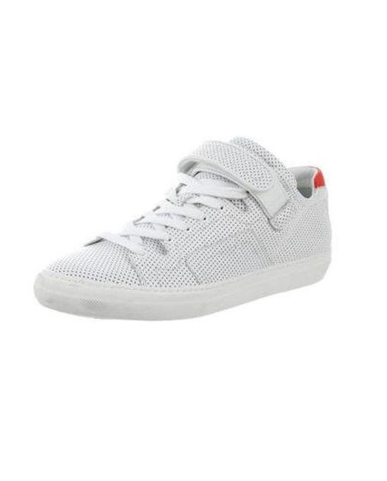 Pierre Hardy Men's White Perforated Leather Low-top Sneakers