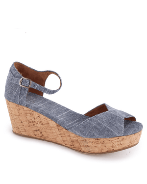 TOMS Womens Platform Wedges Chambray-TOMS-Fashionbarn shop