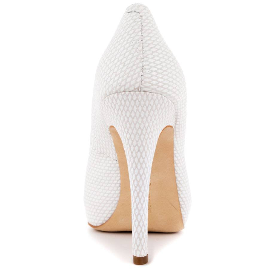 BCBGENERATION PARADE PLATFORM PUMPS WHITE SNAKE-BCBG-Fashionbarn shop