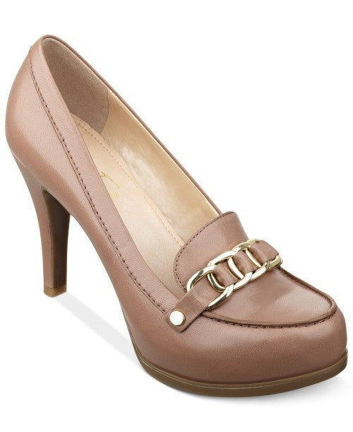 Marc Fisher Isla Loafer Platform Pumps-MARC FISHER-Fashionbarn shop