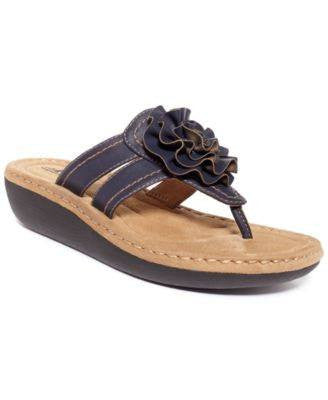 WHITE MOUNTAIN CHARTER PLATFORM THONG SANDALS SADDLE 8M-WHITE MOUNTAIN-Fashionbarn shop