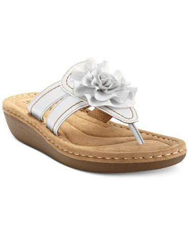 White Mountain Cliffs Charter Platform Thong Sandals-WHITE MOUNTAIN-Fashionbarn shop